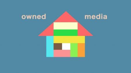 オウンドメディアのイメージを家で表したもの